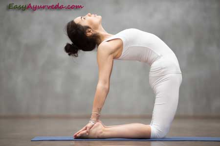 ushtrasana camel pose how to do benefits precautions